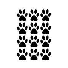Vente chaude 12 empreintes de pattes de chien voiture de l'art autocollants pour enfants chambre casier verre fenêtre de la voiture porte portable Kayak vinyle Decal Set 9 couleurs
