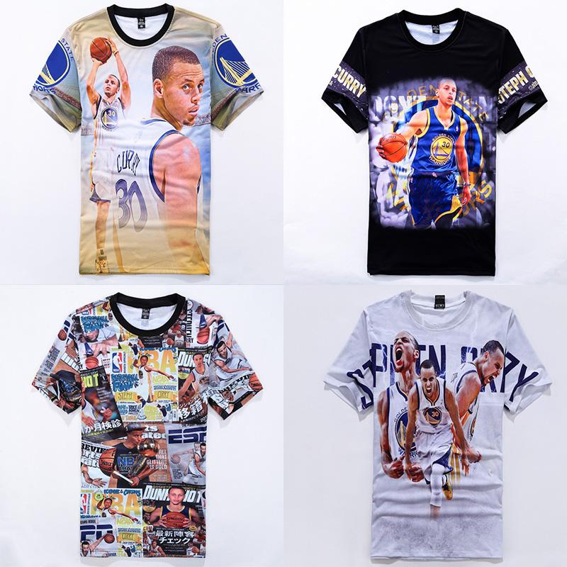2016 Cool stephen curry print 3D T-shirt for men boy basketball sport jersey tee shirt steph 30 casual tshirts short sleeve tops(China (Mainland))