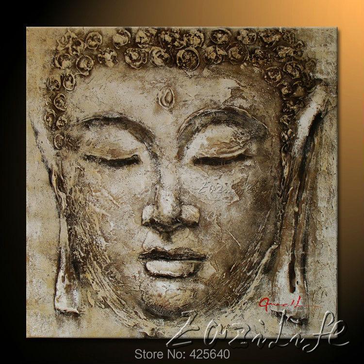 Moderna pintura de buda de alta calidad compra lotes baratos de moderna pin - Peinture sur toile bouddha ...