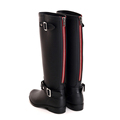 Punk style zipper tall boots women s pure color rain boots outdoor rubber water shoes for