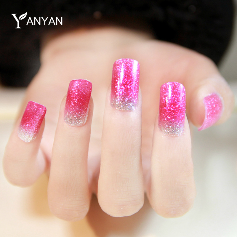 Nail Stickers Decals,1sheet Glitter Adhesive Full Nail Wraps Patch Art,Nail Designs Manicure All for Nail Decorations Tools(China (Mainland))
