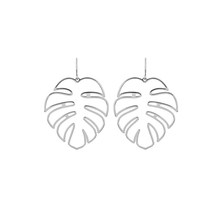 Jisensp 2018 Irregular Unique Big Leaf Drop Earrings for Women Bohemian Long Earrings Hollow out Boho Earings Jewelry Gift(China)