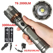 Buy High power Flash light Zoomable XM-L T6 2000LM Rechargeable LED Flashlight Torch Zoom Lamp 18650+DC/Car Charger for $15.81 in AliExpress store