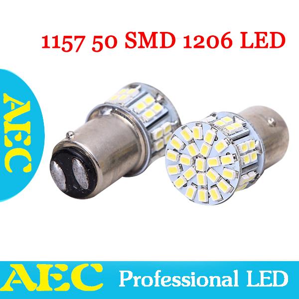 4Pcs/Lot S25 P21/5W 1157 BAY15D 50 SMD 1206 3020 LED 50SMD White special for brake light lamp wedge Light DC12V(China (Mainland))