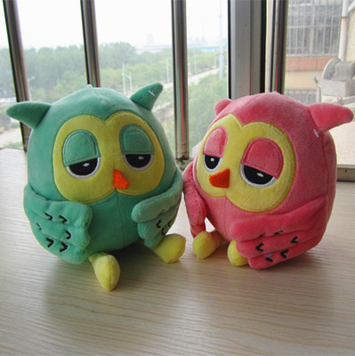 about 20cm lovely owl plush toy doll,one set/ 8 pieces dolls baby gift ,Christmas gift b4575(China (Mainland))