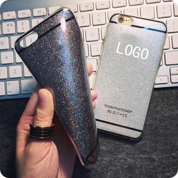 i6 Luxury Soft TPU Bling Glitter Shimmering Full Body Original Case Cover For Apple iPhone 6 6 Plus TPU case fundas capas para(China (Mainland))