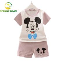 instock!!!2016 Cartoon Summer Baby Boy Clothing short sleeve Set Tank Top + Shorts Kid Boy Summer Set Children Boy Clothes Set(China (Mainland))