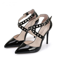 2016 Summer Style Pointed Toe High Heels Stilettos Discount Large Size Womens Shoes Large Size 11(China (Mainland))