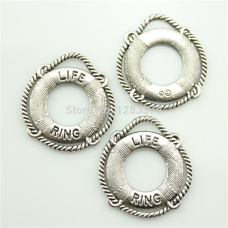 Charms Life buoy 50 pieces/lot Size:23*22mm No.S01523 Hot Sales Antique silver DIY Retro Jewelry Accessories Vintage - 99Cent Shop store