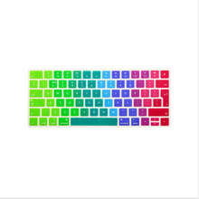EU/UK Rainbow Keyboard Cover Silicone Skin for Apple Magic Keyboard MLA22B/A European/ISO Keyboard Layout Silicone Skin