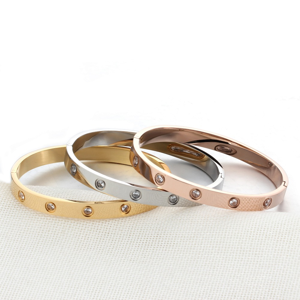 Love Bracelet Bangles Screw Bracelet Stainless Steel Bangle Gold Color Bracelets & Bangles For Women Jewelry Gift (BA101759)(China (Mainland))