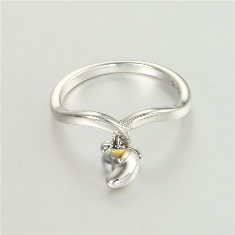 baby foot 925 sterling silver jewelry his and hers promise