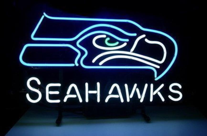 """Custom NEON SIGN board For Football NFL Seattle Seahawks REAL GLASS Tube Signage BEER BAR PUB Club Shop Light Signs17*14""""(China (Mainland))"""