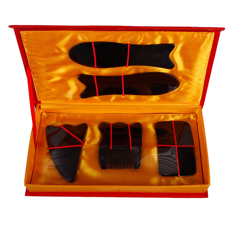 5Pcs Health Care Chinese Traditional Gua Sha Acupuncture Massage Natural Tool Set Guasha  #24525<br><br>Aliexpress