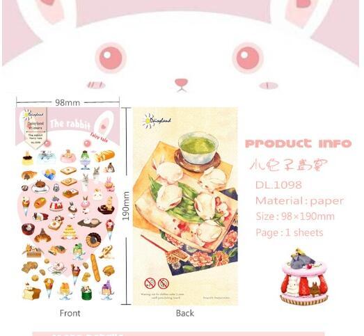 Daisyland Korea Stationery Paper Sticker Diary Decorative Stickers Albums Rabbit Feast<br><br>Aliexpress