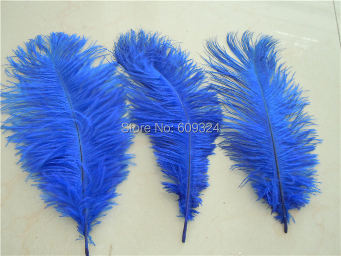 Free shipping pcs inch royal blue ostrich feather