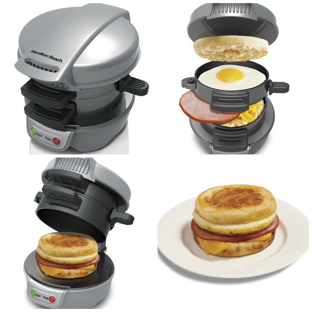 Beach Breakfast Sandwich Maker Machine 700w Burger Cook