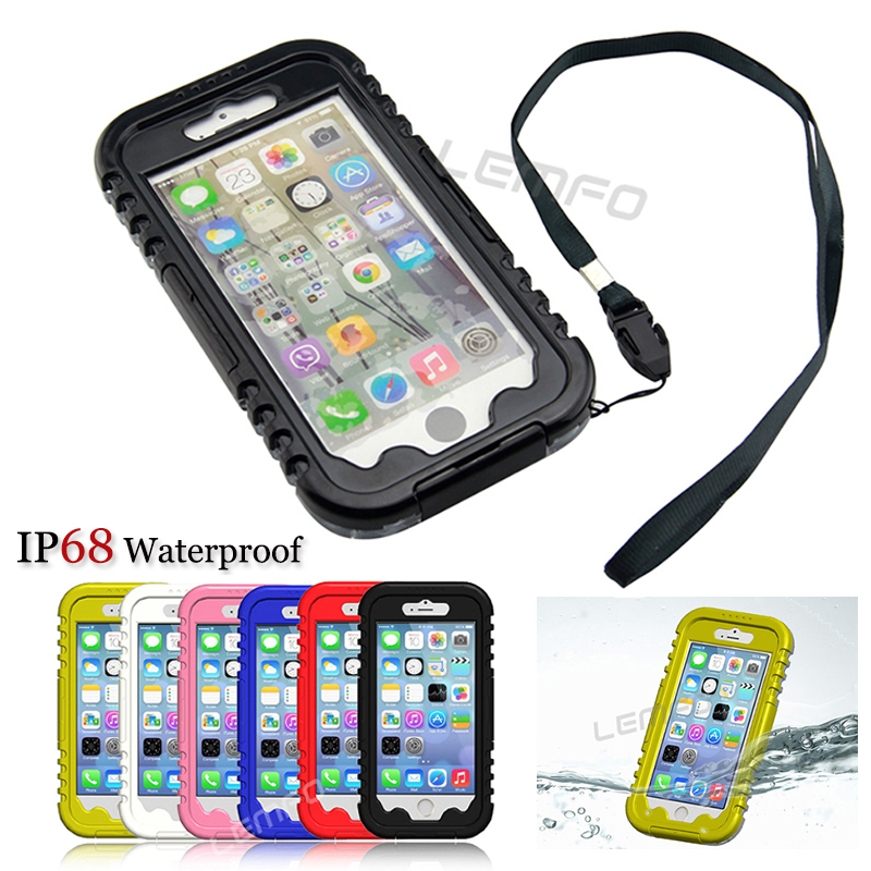IP-68 Waterproof Diving Cover Case For Apple iPhone 6 4.7 iPhone6 Water/Snow/Shock /Dirt Proof Hybrid Swimming Dive Bag 6 Color(China (Mainland))