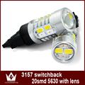 Night Lord 1Bulb lot Samsung 5730chip P27 5W 3457 3157led Dual Color Switchback Parking trunk Rear
