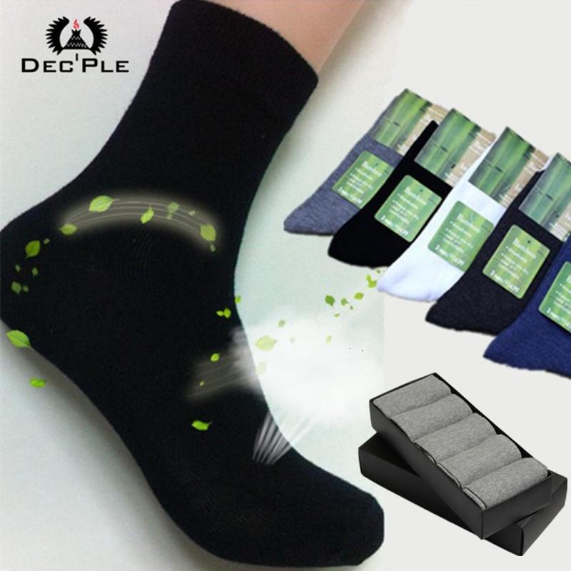 5pairs Men's Socks 2016 Brand New Men Bamboo cotton Autumn Winter socks striped men 40-45 size - Dec'ple Store store