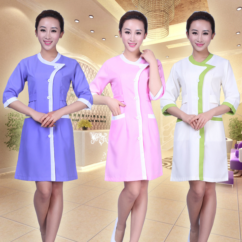 2015 New nurse doctor scrub uniforms women hospital gowns beauty salon smock beauty plastic medical service dental clinic Lab(China (Mainland))