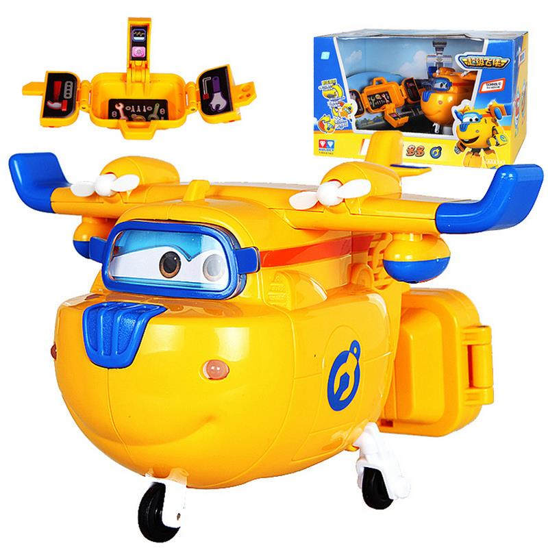 1pcs Eletronic Wings Mini Airplane with Toolbox ABS Robot Induction toys Action Figures Super Wing Transformation Jet Kids<br><br>Aliexpress