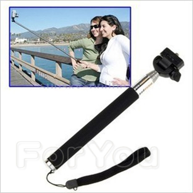 Portable Plate Handheld Monopod Telescopic Extendible Camera Monopod Outdoor Light Weight for mini Camcorder
