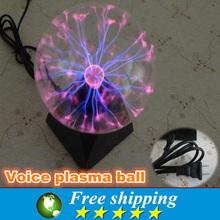 Novelty electrostatic magic lamp,home decoration night light office layout Nightlight,5 inches ightning-like plasma ball.(China (Mainland))