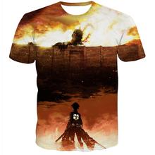 New Arrive Men Women Summer Casual tee shirts Street Hipster 3d t shirt Classic Anime Attack on Titan t shirts tops
