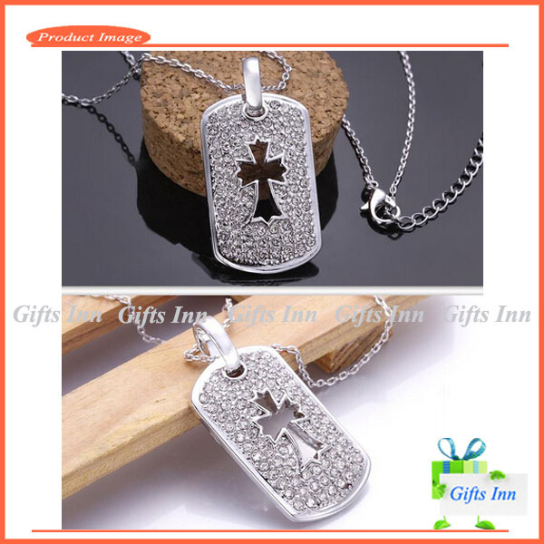 50% OFF Cross Necklace Platinum Plated Women Necklace CZ Diamonds Cross Pendant Necklace for Women Free Shipping(China (Mainland))
