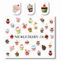 NICOLE DIARY 1 Sheet Design Multifarious Ice Cream Nail Art Water Decals Transfer Sticker for Nail