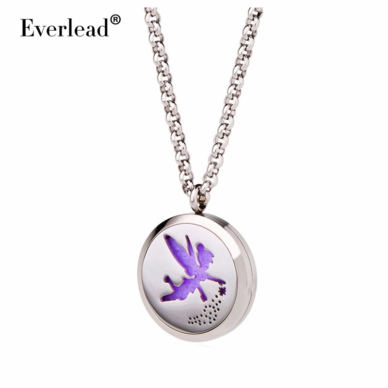 30mm Round Locket Aromatherapy Pendant Angel shape diffuser magnetic locket pendants women party Thanksgiving Gifts(China (Mainland))