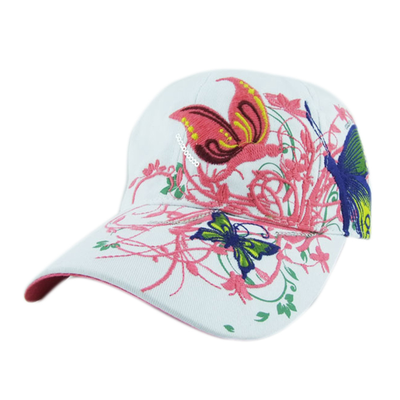 Brand new 2015 summer Embroidered Baseball Cap women Lady Fashion Shopping Cycling visor sun Hat Cap free shipping(China (Mainland))