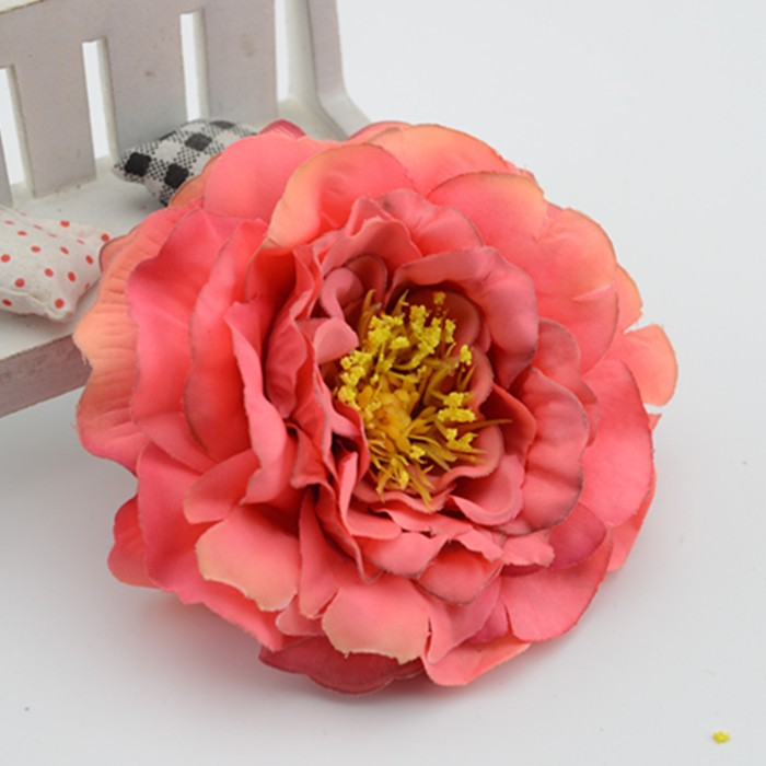 9cm Artificial flowers peony flowers painting the living room European-style fake silk flower floral decoration flower roses