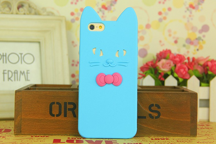 """Fashion 3D Cute Ear Cat soft silicone Case For iPhone 6/6s/6 plus/6s plus/4.7/5.5"""" Rubber Silicon Back Cover Cell Phone cases(China (Mainland))"""
