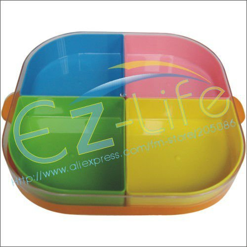 Wholesale price, colorful multi-function, seasonal fruit and candy plate, tray dish for candy, 10pcs/lot, free shipping (EMS)