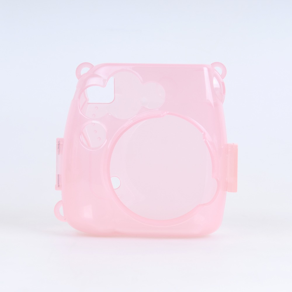 Fujifilm Instax Camera Mini 8 Plastic Cover Illuminated Pink Camera Case for Mini 8 Free Shipping(China (Mainland))
