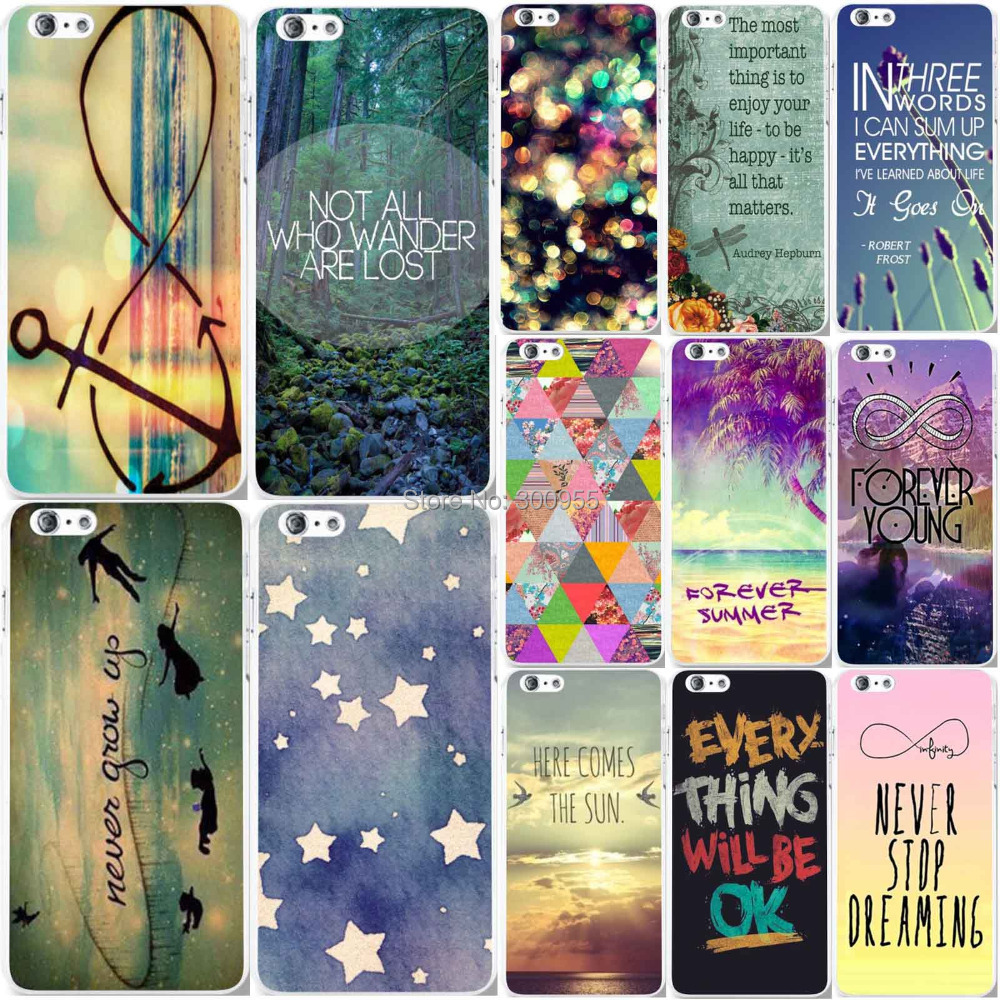 Phone Case Cover Apple iPhone 6 6s 4.7 inch Beautiful Scenery Fancy Colorful Patterns Hard PC Mobile bags skin - poplar1115 store
