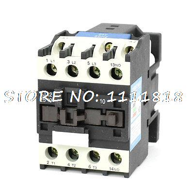 35mm DIN Rail Mounted 3P+1NO 24V Coil 25A AC Contactor CJX2-2510<br><br>Aliexpress