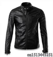 2016 new men's leather jacket Korean catwalks shall Slim leather jacket PU high quality(China (Mainland))