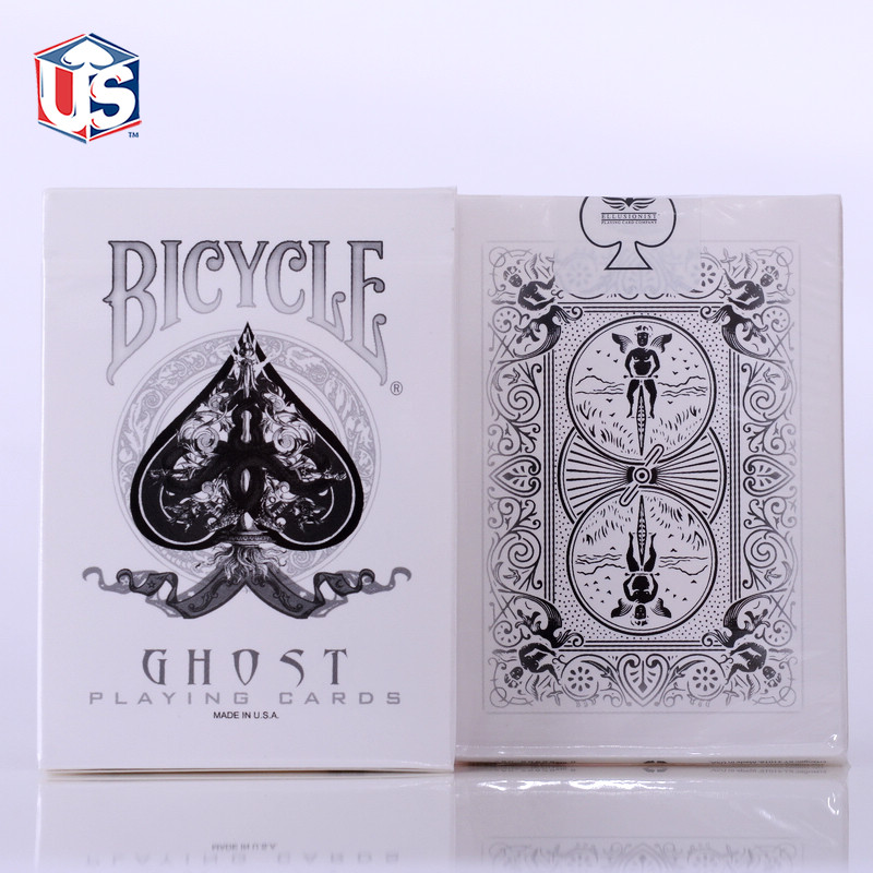 White Ghost Deck Bicycle Playing Cards Poker Size USPCC Custom New Ellusionist Magic Tricks Magic Toys(China (Mainland))