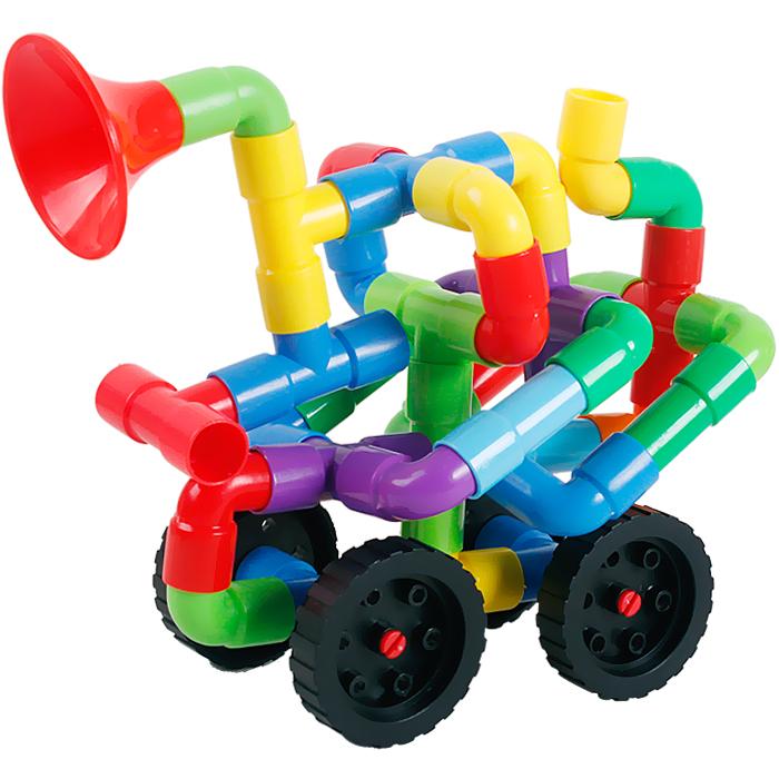 Chirldren Babys Toddler Plastic DIY Game Building Pipe Blocks Boys Girls Developmental Educational Toys Gift(China (Mainland))