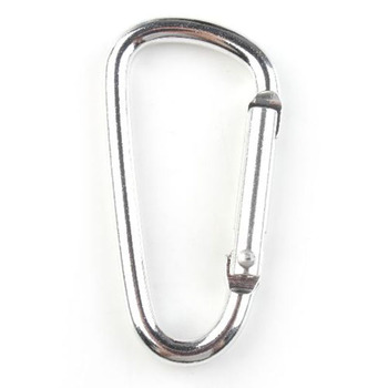 "36pcs/lot  Fashion Silver Aluminum Durable ""D"" Shape Climbing Equipment Safety Hook Mountaineering Carabiner 160914"