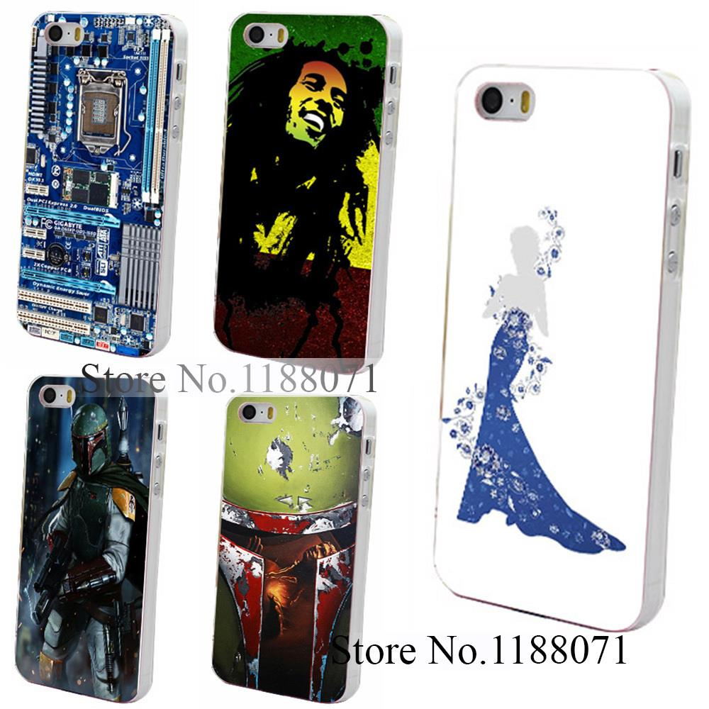 Blue and White Porcelain Style Hard Clear Back Case Cover for iPhone 4 4s 4g 5 5s 5g(China (Mainland))