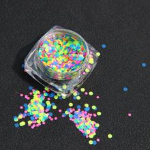 Hot Fashion 1 Box 1mm-2mm Mixed Mini Round Thin Nail Art Glitter Paillette free shipping(China (Mainland))