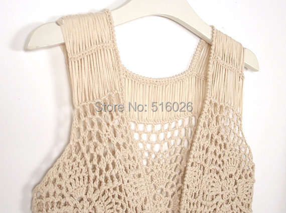 Crochet Vest Pattern With Fringe images