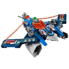 LEPIN Nexo Knights Axl Aaron Foxs Aero Flieger V2 Combination Marvel Building Blocks Kits Toy Compatible Legoe Nexus - CyunSing Trading store