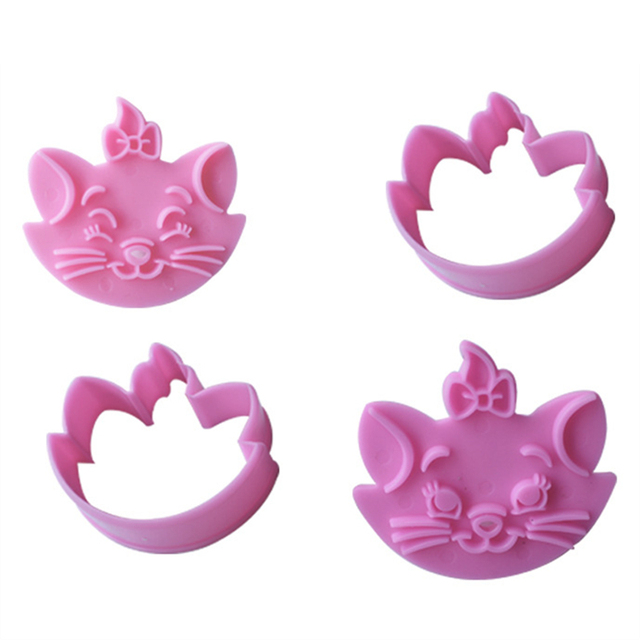 Cartoon Shaped Cookie Cutter and Stamp Set (2pcs/set)