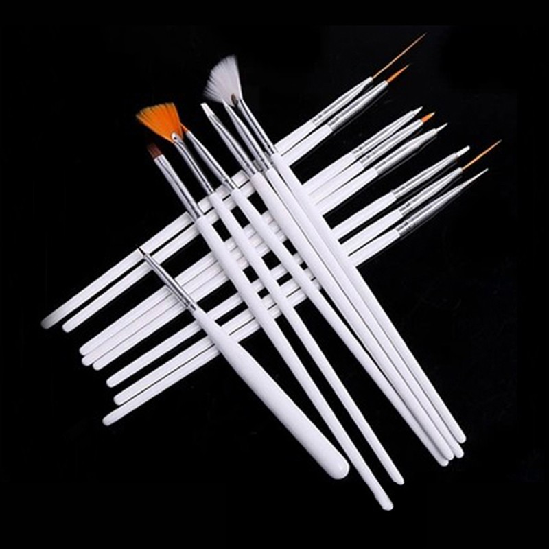 15pcs/Set Nail Art UV Gel Design Pen Painting Brush Set for Salon Manicure Tips Tool Free Shipping