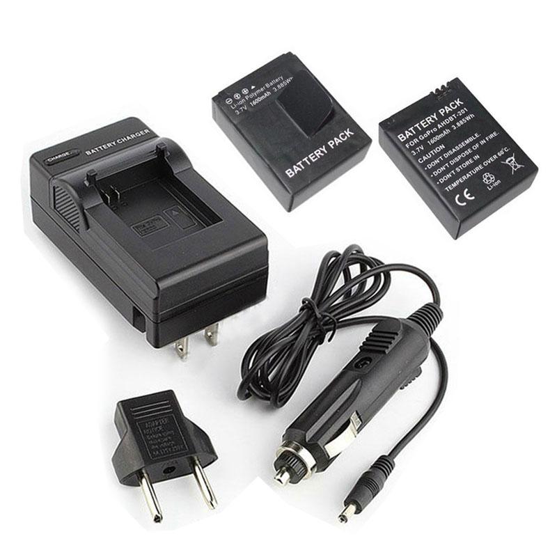 Гаджет  Gopro Accessories. Gopro Battery. 2X 1600mAh AHDBT-302 AHDBT-301/201 Batteries+Charger for GoPro HD HERO3+/3. Free shipping. None Электротехническое оборудование и материалы